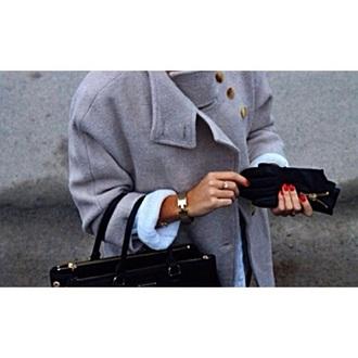 coat black grey coat fashion style swag
