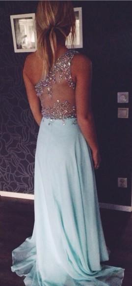 baby blue blue dress sparkly dress prom dress rhinestones long prom dresses prom clothes tumblr clothes promdresses 2014 prom dresses blue prom dresses junior prom