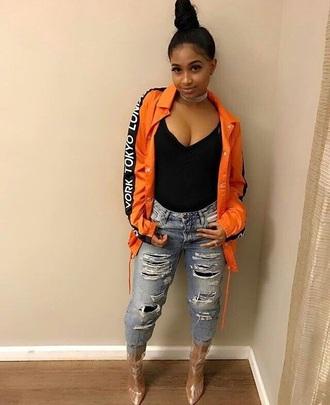 jacket orange & black jacket orange & black tokyo jacket