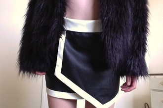 skirt retro 90s style tumblr thrift store coat