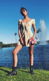dress,mini dress,model off-duty,Taylor hill,coachella,festival,music festival,instagram,summer dress,boots