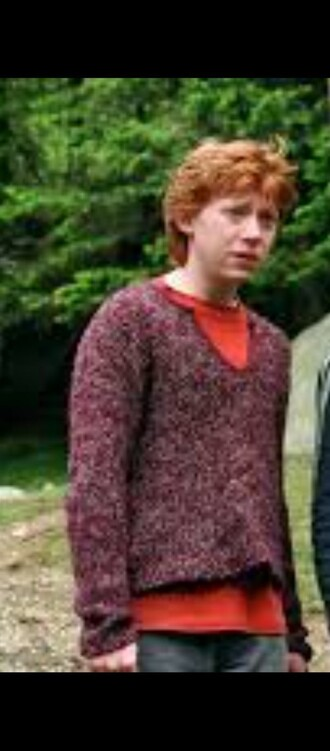 top purple jumper style comfort harry potter ron weasley sweater