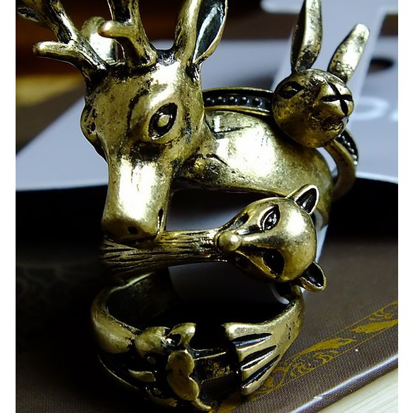 Forest Animal Ring Set