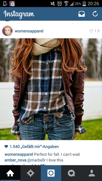 jacket brown leather jacket leather jacket brown jacket stylish slim skinny pants helpmetofindit wheretoget? blouse t-shirt where did u get that squared checkered