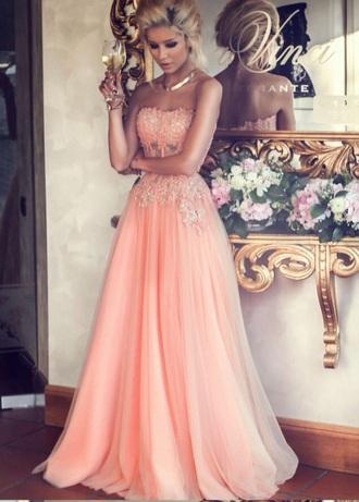 dress prom dress coral
