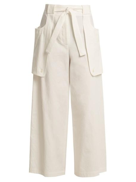 Thom Browne cotton white pants