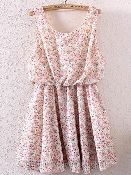 floral pastel pink floral dress pink dress short dress