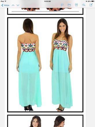 dress maxi dress mint dress summer dress cute dress