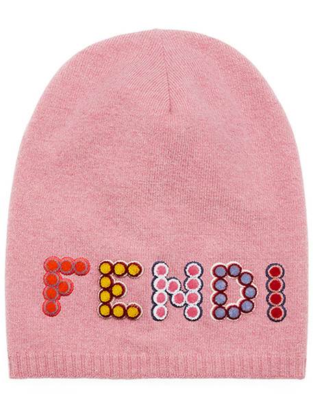hat beanie purple pink