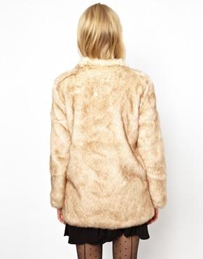 ASOS Petite | ASOS PETITE Longline Fur Coat at ASOS