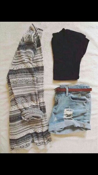 cardigan white sweater black and white sweater grey sweater shorts pretty winter sweater winter cardigan