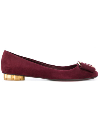 bow women shoes leather suede purple pink