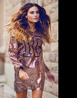 dress sequins sports luxe sporty gold