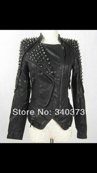 jacket spiked leather jacket punk jacket