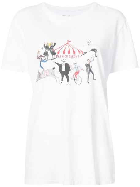 t-shirt shirt t-shirt fashion women white cotton print top