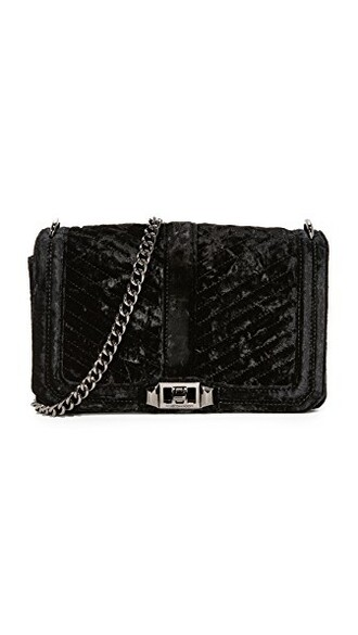 cross love quilted bag chevron black