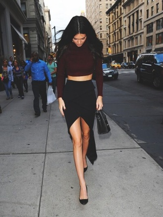 skirt bodycon dress slit