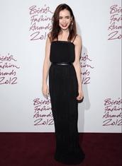 lily collins,black dress,black,dress