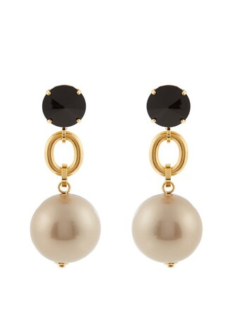 ball earrings black jewels