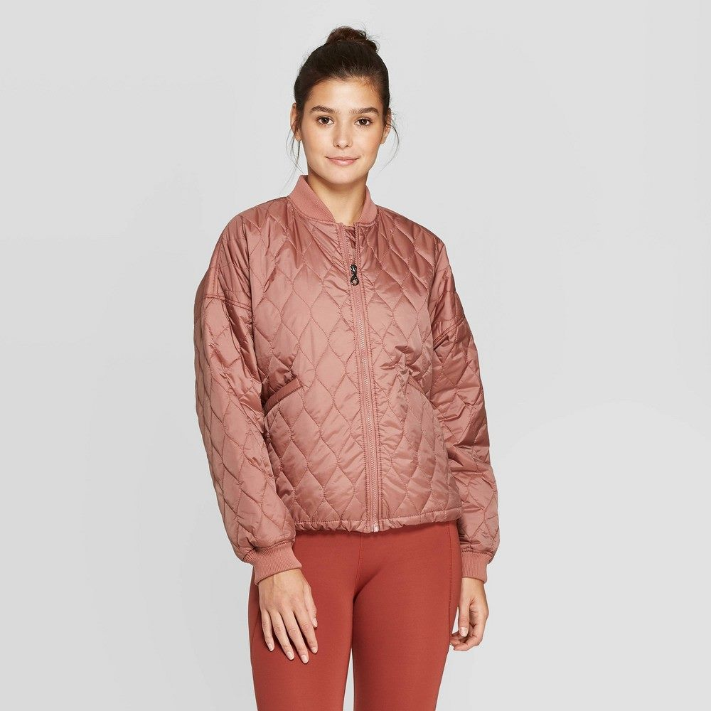 Women's quilted jacket - joylab&™ burlwood m