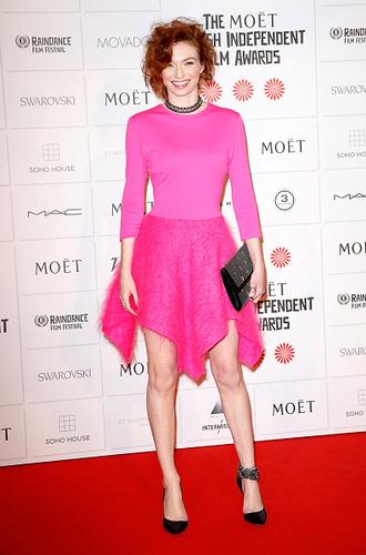 dress pink clothes red carper red carpet eleanor redhead