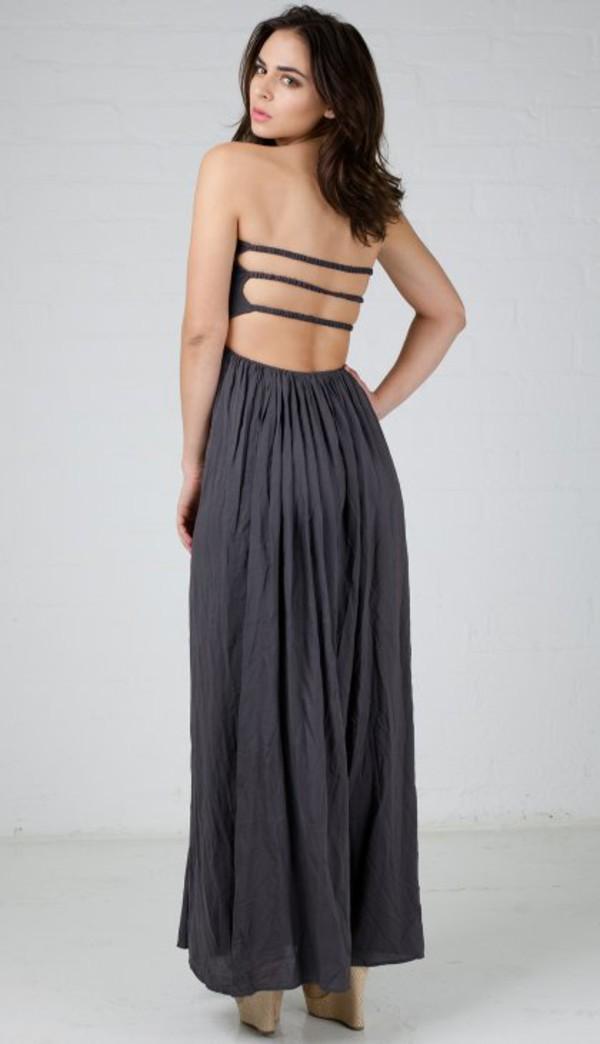 Elastic top maxi dress