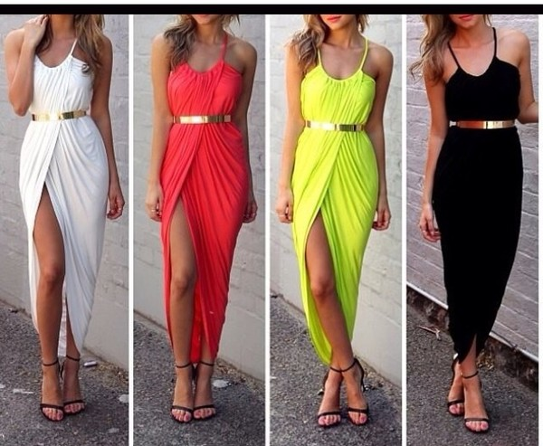dress belt black dress white dress yellow dress red dress summer dress