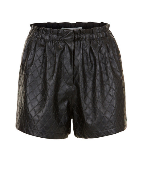 quilted leather shorts shorts leather leathershorts autumn
