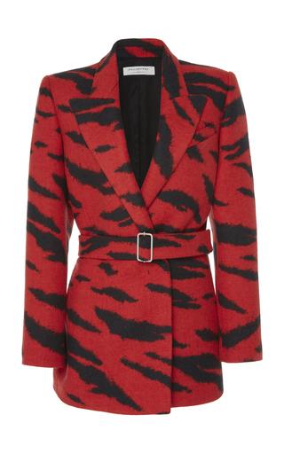 Zebra-Print Wool Blazer Jacket by Philosophy di Lorenzo Serafini | Moda Operandi