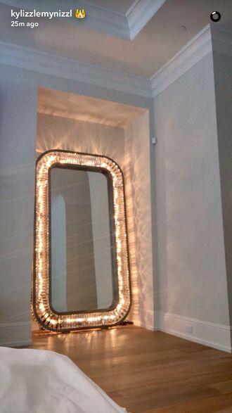 home accessory mirror home decor light kylie jenner lights bedroom snapchat shiny diamonds glamour the mirror that lights up light mirror light up diy floor mirror