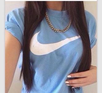 shirt nike t-shirt cute dope nike shirt blue shirt style fashion