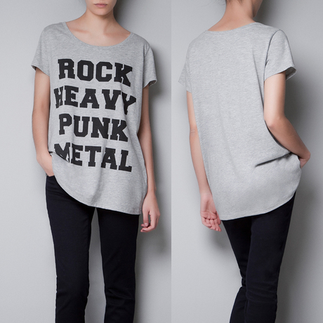 Rock Heavy Punk Metal Print Round Neck Short Sleeve T-Shirt