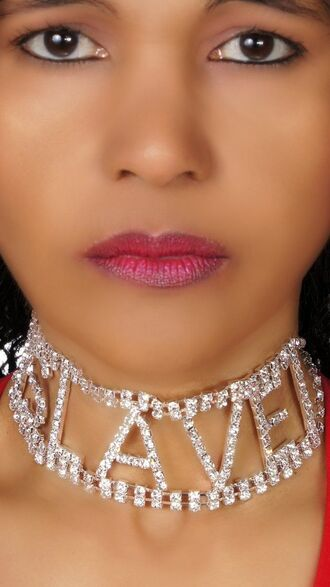 jewels choker necklace rhinestones