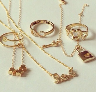 jewels gold stars infinity necklace bracelets gold ring gold necklace