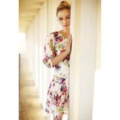 dress,floral dress,bijoux fair trade shift dress,shift dress,print dress