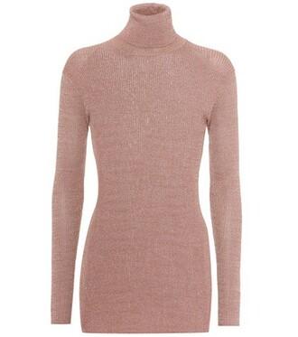 sweater turtleneck turtleneck sweater pink
