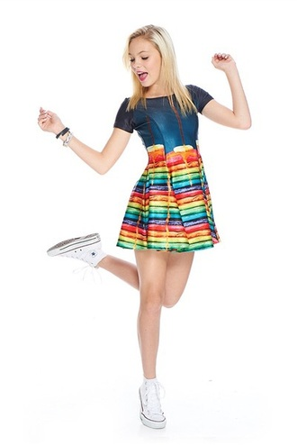 dress skater dress girly dress girly printed dress
