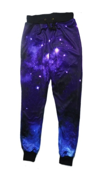 leggings galaxy print joggers