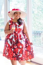 garner style,blogger,dress,hat,plus size,plus size dress,curvy,midi dress,printed dress,spring outfits,spring dress,plus size bridesmaid,bridesmaid,plus size bridesmaid dress