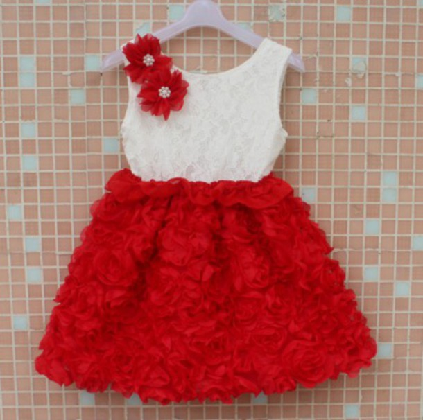 f9411ea7b250a dress kids dress frock children clothes kids fashion baby clothing red dress  baby outfit cute dress