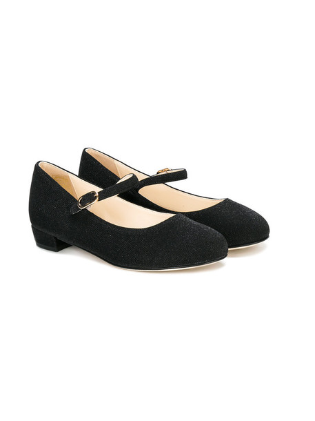 leather cotton black shoes