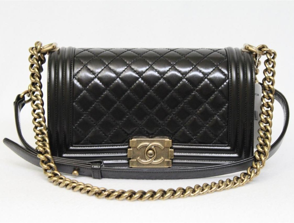 Black Quilted Clafskin Small Le Boy Bag, Sold out in Stores ... : quilted boy tote chanel - Adamdwight.com