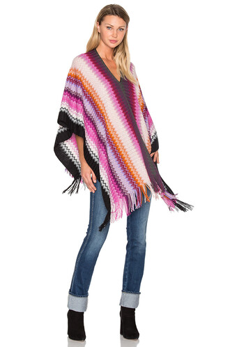 poncho pink top