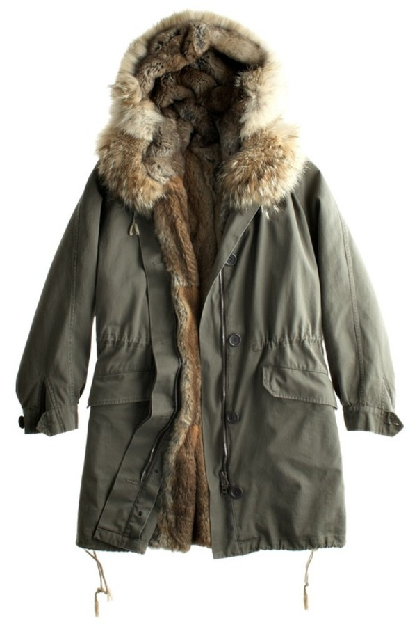 Jacket: coat, parka, olive green, green, winter outfits, fur ...