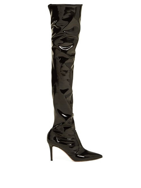 Gianvito Rossi - Over The Knee 85 Boots - Womens - Black