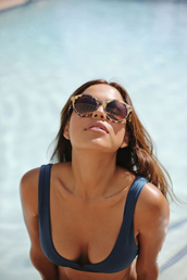 sunglasses,tortoise,sunnies,pool,shades,swimwear,bikini,tortoise shell,summer beauty,natural makeup look