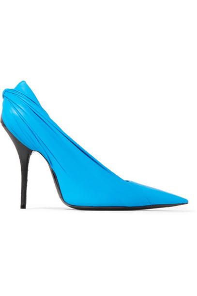 Balenciaga light pumps leather blue light blue shoes