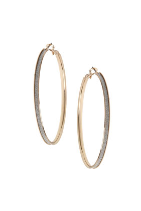 Thin Glitter Hoop Earrings - Topshop
