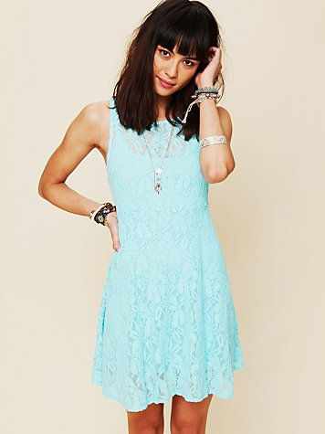 Free People Sleeveless Miles of Lace Dress at Free People Clothing Boutique