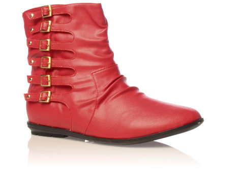 Women's shoes online, miss kg jessica red boots flat